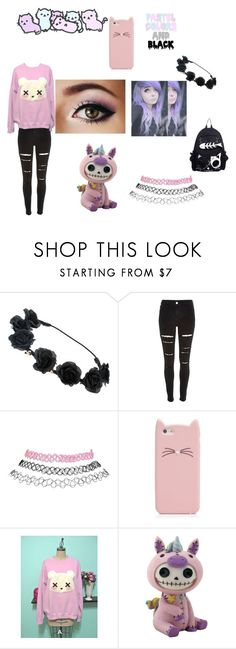 """Pastel goth"" by candy-lover12 ❤ liked on Polyvore featuring River Island, Wet Seal and Kate Spade"