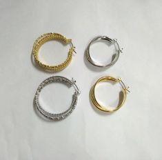 Minimalist, Hoop Earrings, Personalized Items, Classic, Happy, Gold, Jewelry, Women, Colors