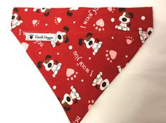 Dog bandana valentine dog bandana red bandana by DazzleDoggieCo