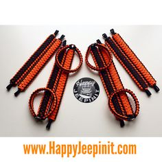Pick Your Colors JL Front Roll Bar, Bright Purple Paracord Set of 2 Happy Jeepinit Jeep Wrangler Roll Bar Grab Handles
