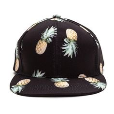 Pineapple Upside Down Cap BLACK ( 12) ❤ liked on Polyvore featuring  accessories 7b0f3cf67493