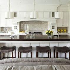 Love a white kitchen!