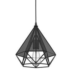 Vintage Style Diamond Pendant Light Industrial By GoPioneers