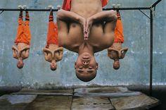 Shaolin monks training, Zhengzhou, China, by Steve McCurry, 2004.