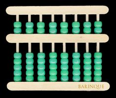 DIY How to make your own Abacus with popsicle sticks, pony beads and dowels or bamboo skewers. How to teach it: http://homeschoolmath.blogspot.com/search/label/abacus and http://www.ehow.com/way_6169715_chinese-abacus-tutorial.html