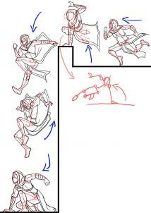 how to draw an assassin step 2