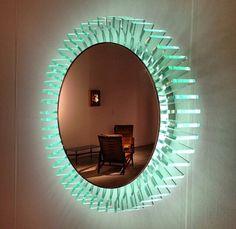 Modern Mirror Design, Bathroom Mirror Design, Glass Bathroom, Modern Mirrors, Etched Mirror, Led Mirror, Mirror Art, Acrylic Furniture, Pet Furniture