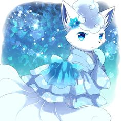 Alolan Vulpix in a cute Dress Solgaleo Pokemon, Pokemon Rare, Pokemon Poster, Pokemon Tattoo, Pokemon Fan Art, Alolan Vulpix, Pokemon Eeveelutions, Pokemon Images, Pokemon Pictures