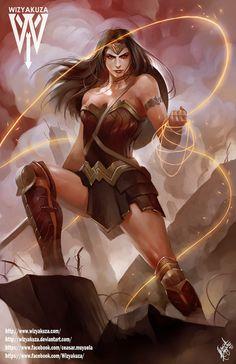 Gal Gadot comme Wonder Woman  Batman vs Superman  par Wizyakuza