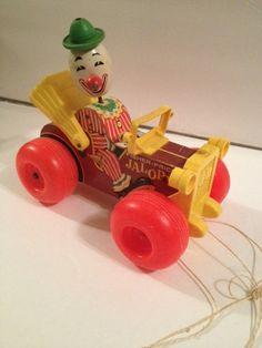 Fisher Price Vintage Wood Jalopy Clown Pull by TrinasKitchenSink, $12.50