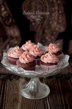 Chocolate & Cinnamon Cupcakes topped with Swiss Meringue Buttercream Frosting. #cupcake #recipe