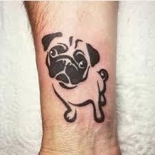 wrist tattoo pug, click now. Pug Tattoo, Get A Tattoo, Wrist Tattoo, Tattoo Small, Head Tattoos, Tribal Tattoos, Cool Tattoos, Tatoos, Mops Tattoo
