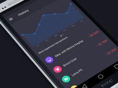 Walle Finance Android App Design #iphone #app #design #appdesign #inspiration #interface #UX #UI #GUI #ramotion ramotion.com #dribbble #behance #mobile #iOS7 #flatdesign