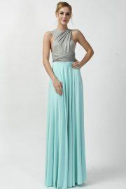 2016 new arrival two tone infinity convertible bridesmaid dress
