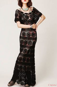 Irish crochet &: Платье