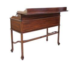 Kolonial-Design,Sekretär, Mahagoni, Schreibtisch, Campaign Desk, Design, Submission, Table Desk