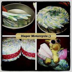 Motorcycle Diapercake :)
