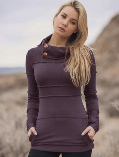 Hempest Sequoia Sweater in eggplant