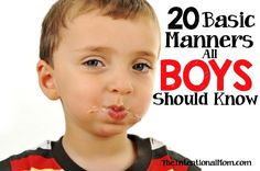 Manners all kids should learn