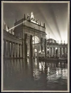 ''The Arch of the Rising Sun at Night'',  -   Willard E. Worden photographer, Panama-Pacific International Exposition, PPIE, 1915, San Francisco, Calif. -- Jerry Bianchini Collection