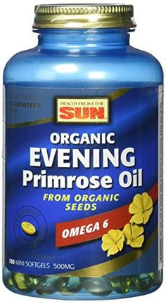 Rigorously tested to guarantee oil quality, purity and truth-in-labeling. Hexane free extraction. Hormonal balance. Health From the Sun Organic Evening Primrose Oil 500 naturally supplies the nutritionally important fatty acid Gamma-Linolenic Acid (GLA),   	 		 			 				 					Famous Words... more details at http://supplements.occupationalhealthandsafetyprofessionals.com/herbal-supplements/evening-primrose/product-review-for-health-from-the-sun-evening-primrose-oil-soft-g