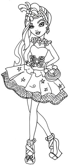 Free Printable Ever After High Coloring Pages Duchess Swan