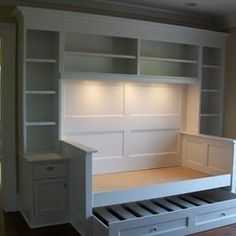 Tons of storage and a pull-out for overnight guests.