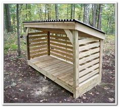 How To Build A Firewood Storage Shed #storageshed