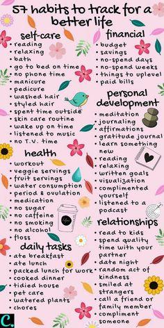 Bullet Journal Simple, Self Care Bullet Journal, Bullet Journal Ideas Pages, Bullet Journal Mental Health, Bullet Journal Habit Tracker, Daily Journal Prompts, Diet Journal, Good Habits, Healthy Habits