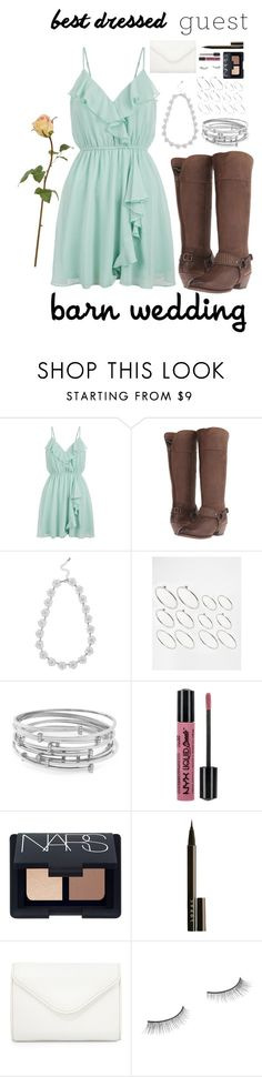 """""""Best Dressed: Barn Wedding"""" by kmeowj ❤ liked on Polyvore featuring New Look, Ariat, M&Co, ASOS, Vince Camuto, NYX, NARS Cosmetics, LORAC, Neiman Marcus and Benefit"""