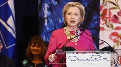 Hillary Clinton Honors Immigrants at Stamp Unveiling