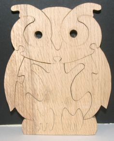 Owl Stand up Wooden Jigsaw Puzzle handmade on the scroll saw  £9.99