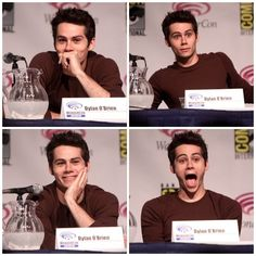dylan o'brien at comicon omg all these beautiful people i can't handle it all i know is he is on my list of future husbands