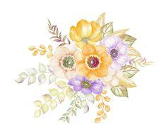 Art, flowers, printable, illustration