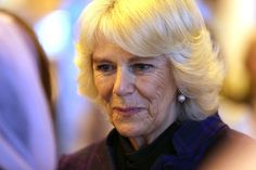 Camilla, Duchess of Cornwall attends an official visit to The London Book Fair at Earls Court on April 9, 2014
