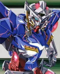 Gundam Elia trans-am Gundam Exia, Gundam Astray, Gundam 00, Robot Concept Art, Game Concept Art, Gundam Wallpapers, Frame Arms Girl, Gundam Custom Build, Mecha Anime