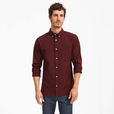 Men's Air Oxford Shirt by Everlane in Port