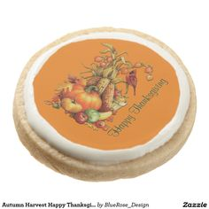 Shop Autumn Harvest Happy Thanksgiving Orange Cookies created by BlueRose_Design. Shortbread Cookies, Oreo Cookies, Sugar Cookies, Orange Cookies, Thanksgiving Treats, Autumn Harvest, Cookie Gifts, Chocolate Covered Oreos, Cake Pops