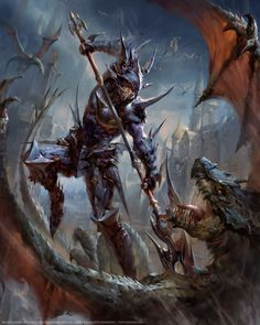 Mobius Final Fantasy -- Dragoon by yuchenghong FF paladin fighter dragon hunter slayer monster beast platemail armor clothes clothing fashion player character npc | Create your own roleplaying game material w/ RPG Bard: www.rpgbard.com | Writing inspiration for Dungeons and Dragons DND D&D Pathfinder PFRPG Warhammer 40k Star Wars Shadowrun Call of Cthulhu Lord of the Rings LoTR + d20 fantasy science fiction scifi horror design | Not Trusty Sword art: click artwork for source