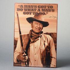 John Wayne Vintage Tin Sign
