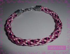 Pulsera tonos rosa