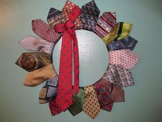 Deep in the Heart of Arkansas: Happy Father's Day -- This tie wreath has a great visual tutorial!