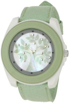 Another cool one! $35  Sprout Women's ST2019MPLG Eco-Friendly Light Green Organic Cotton Strap Watch Amazon.com