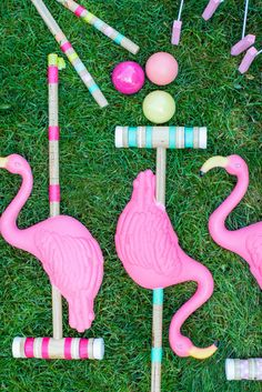 Flamingo Croquet: http://www.stylemepretty.com/2015/09/03/diy-yard-games-as-seen-on-the-today-show/
