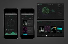 Multi-platform IBM US Open Mobile App with heavy data visualization | User Interface and Infographics Design