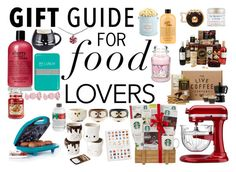 """Gift Guide for Food Lovers"" by amber2727 ❤ liked on Polyvore featuring interior, interiors, interior design, home, home decor, interior decorating, Marc by Marc Jacobs, The Hampton Popcorn Company, Quarto Publishing and Happy Jackson"