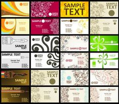 exquisite shading pattern business card template 01 vector
