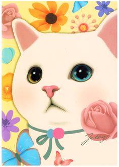 Jetoy Choo Choo Cat Postcard: Navi
