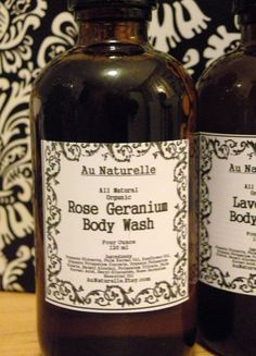 All Natural Organic Rose Geranium Body Wash     by aunaturelle, $9.00