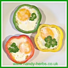 Egg in colourful peppers to cook with an adult - a healthy breakfast or snack.